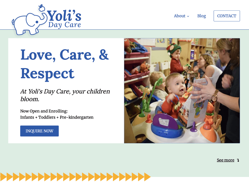 Alexandria Day Care Landing Page