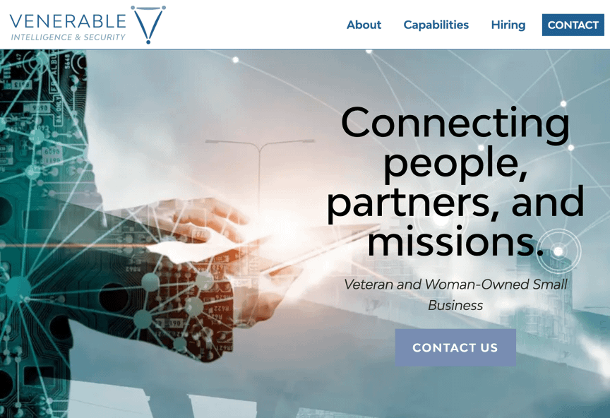 Government Contractor Landing Page