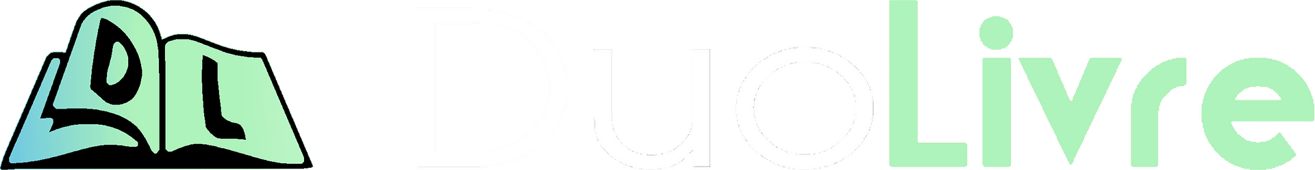 DuoLivre Logo (An open book with a 'D' on the left and an 'L' on the right followed by stylized text with the company name, 'DuoLivre'